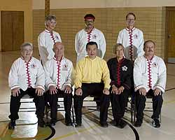 Grandmaster with Chinatown Tai Chi Center\'s Sifu Calph and her instructors